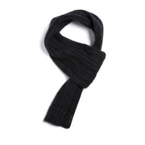新西兰Merinomink美利奴羊毛混纺针织围巾 黑色