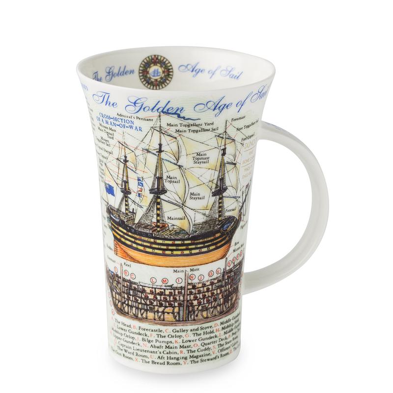 DUNOON 英国丹侬Dunoon骨瓷杯马克杯启航的金色年华