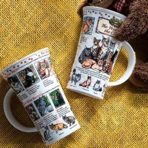 DUNOON 英国丹侬Dunoon骨瓷马克杯/猫的世界