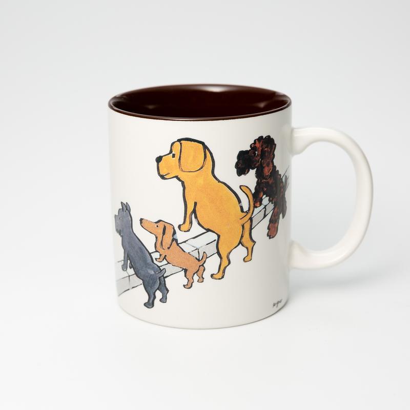 日本AITO美浓烧陶瓷马克杯小狗们的清洁大赛 savignac系列