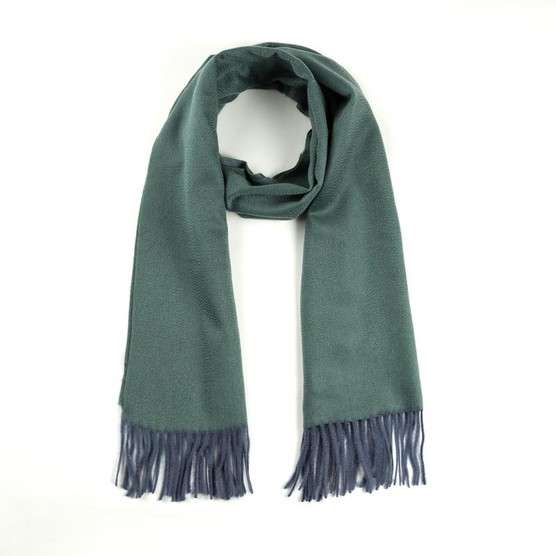 意大利原产MA.AL.BI.羊绒围巾男士围巾女士围巾 蓝绿