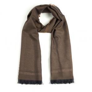 意大利原产MA.AL.BI.羊毛围巾男士围巾女士围巾 咖啡色