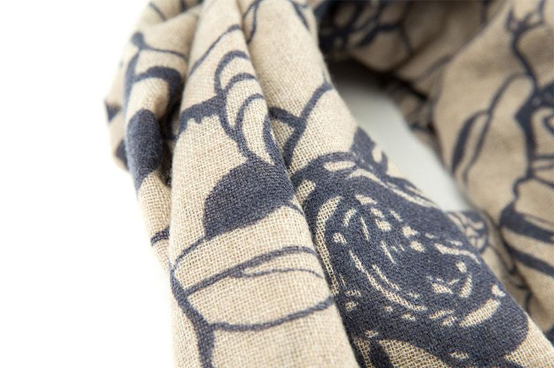 意大利原产MA.AL.BI.羊绒围巾女士围巾 棕色