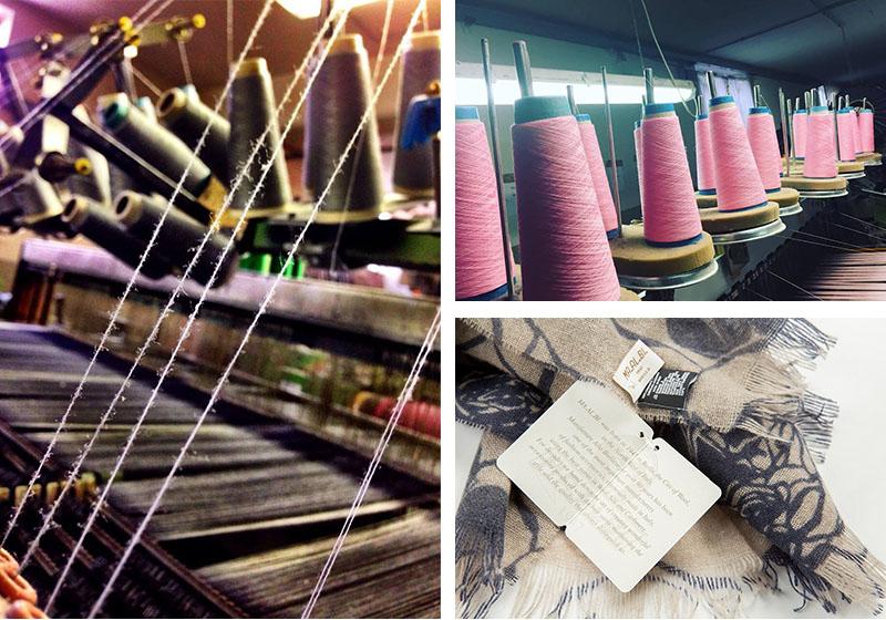 意大利原产MA.AL.BI.羊绒围巾女士围巾棕色 细节