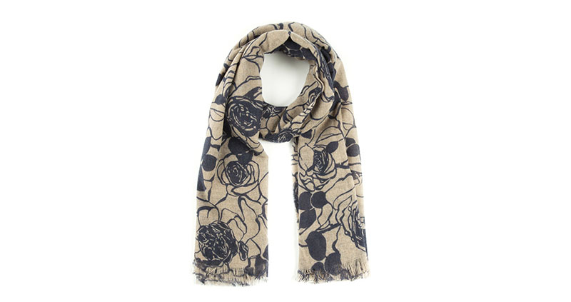 意大利原产MA.AL.BI.羊绒围巾女士围巾 棕色正面