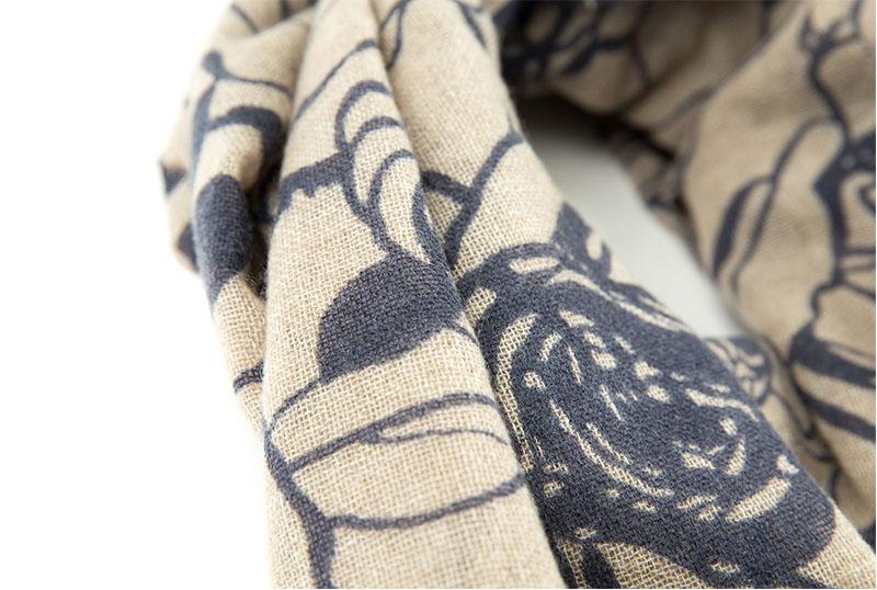 意大利原产MA.AL.BI.羊绒围巾女士围巾 棕色舒适