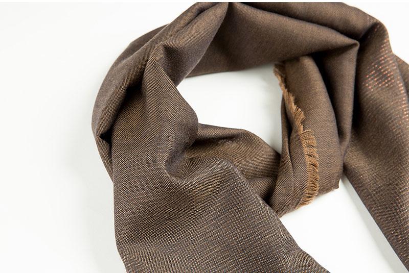 意大利原产MA.AL.BI.羊毛围巾咖啡色面料