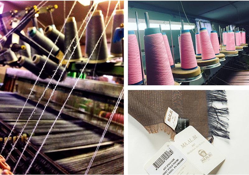 意大利原产MA.AL.BI.羊毛围巾咖啡色工艺