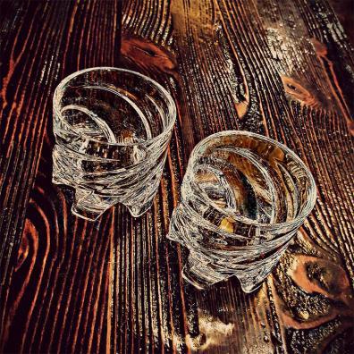 德国原产SHTOX 玻璃炫风杯旋转杯酒杯No.002(2个装)