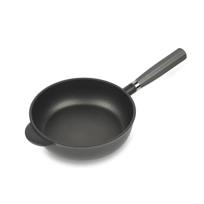 意大利原产Pentolpress陶瓷基涂层 平底煎锅燃气用锅28cm黑色