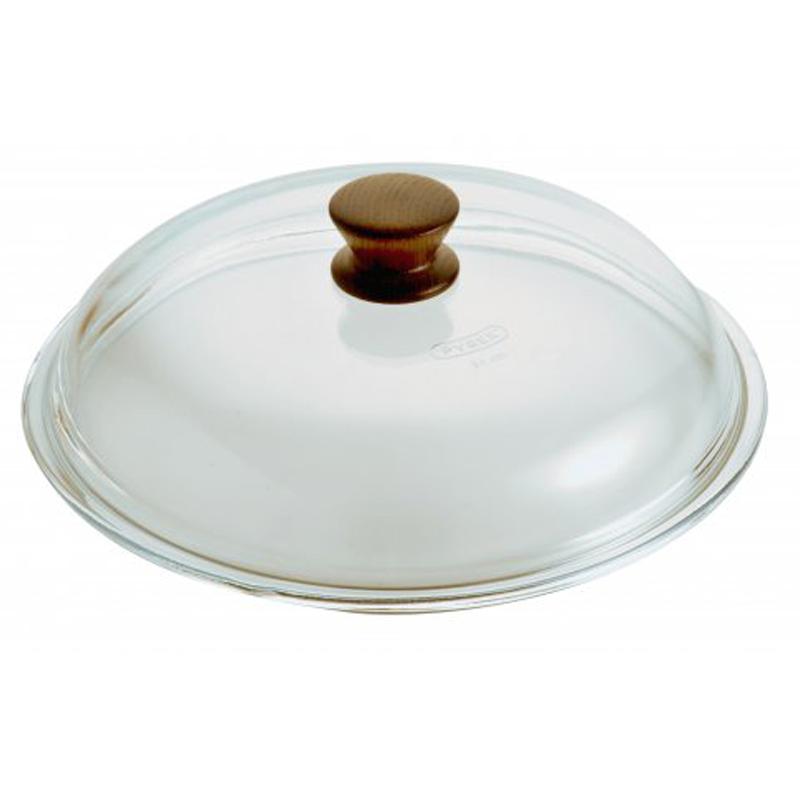 意大利原产PENTOLPRESS高硼硅玻璃锅盖 木质把手32cm透明
