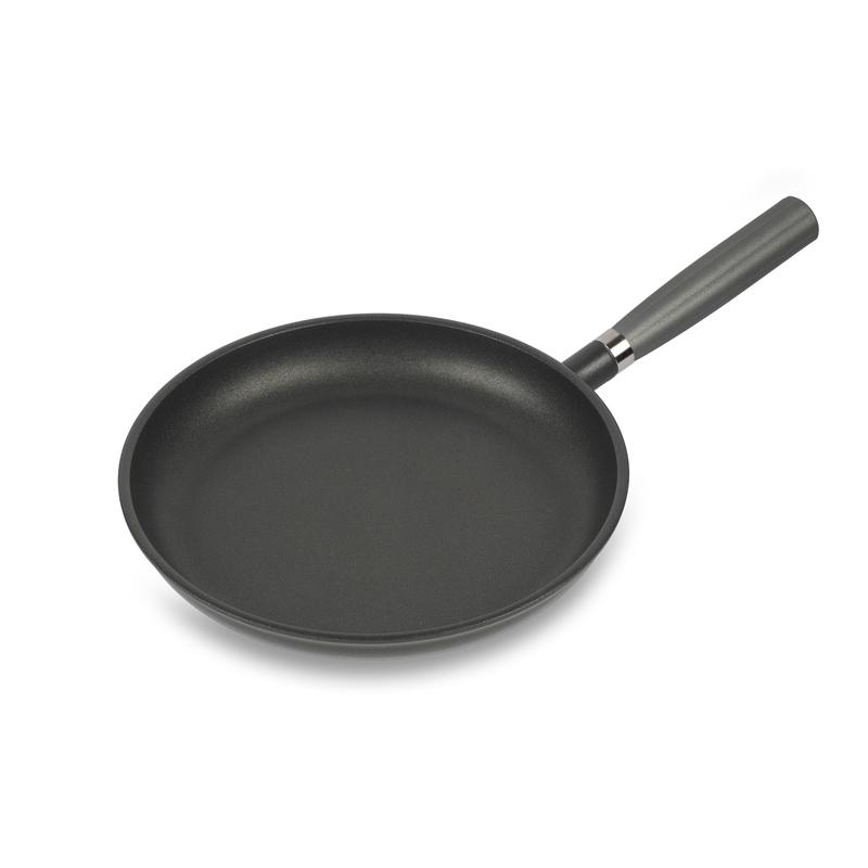 意大利原产Pentolpress陶瓷基涂层平底锅 燃气用煎锅28cm黑色