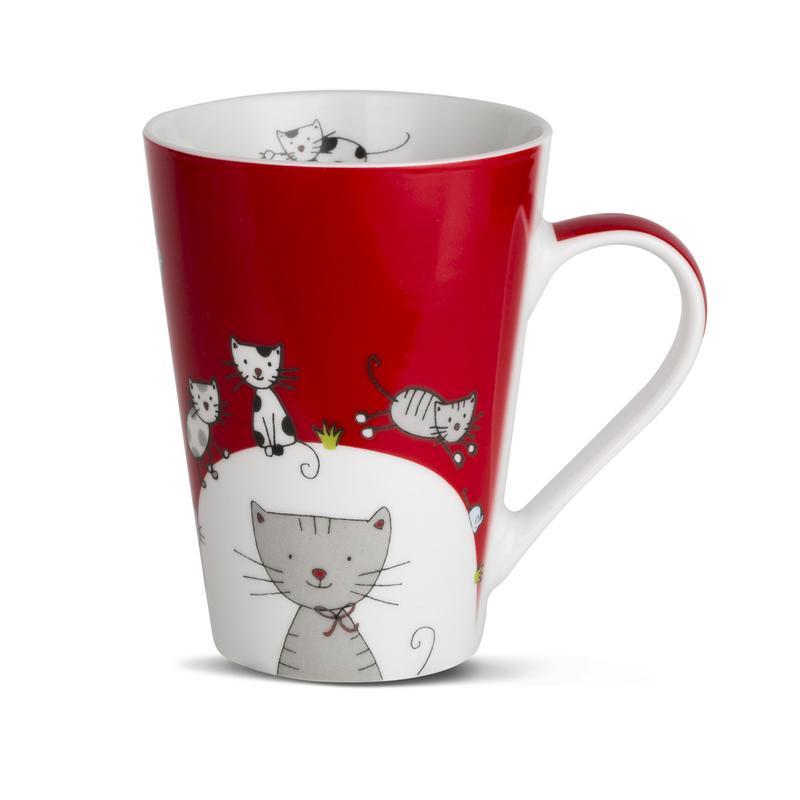 德国原产KOENITZ酷尼子 陶瓷水杯水具杯子马克杯可爱猫咪
