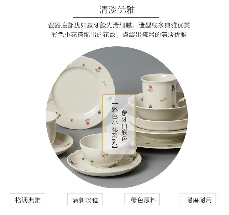 德国原产Seltmann Weiden陶瓷餐盘彩色小花系列