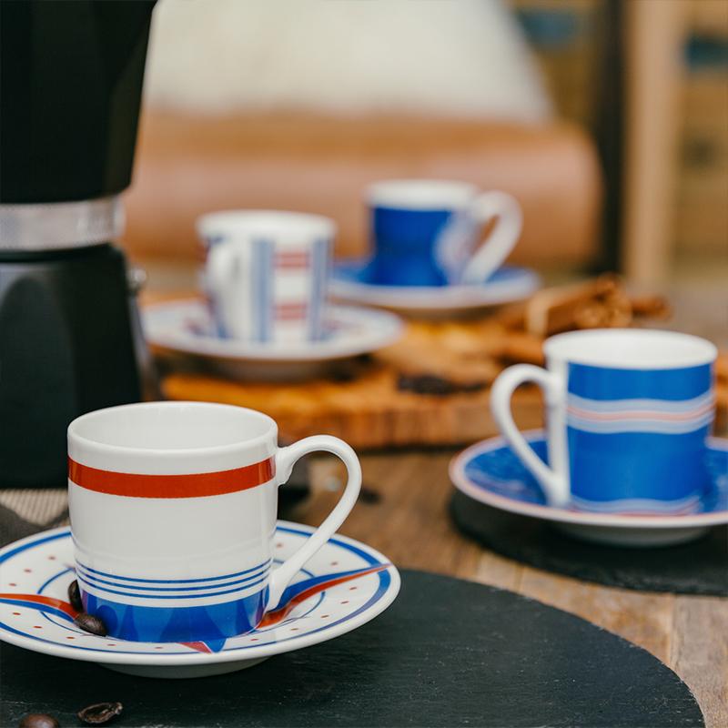 德国原产KOENITZ酷尼子 陶瓷咖啡杯杯子咖啡杯4人套阿玛菲杯