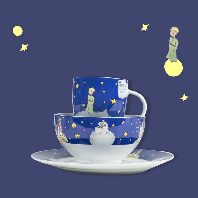 德国原产KOENITZ酷尼子 法语版小王子杯碟碗餐具三件套