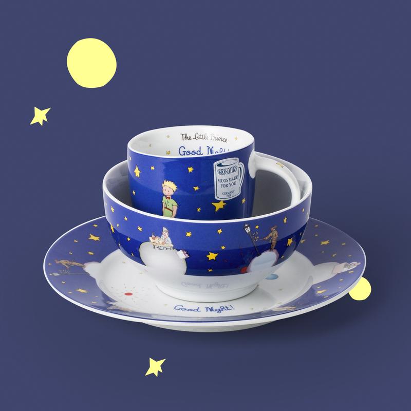 德国原产KOENITZ酷尼子 英语版小王子杯碟碗餐具三件套