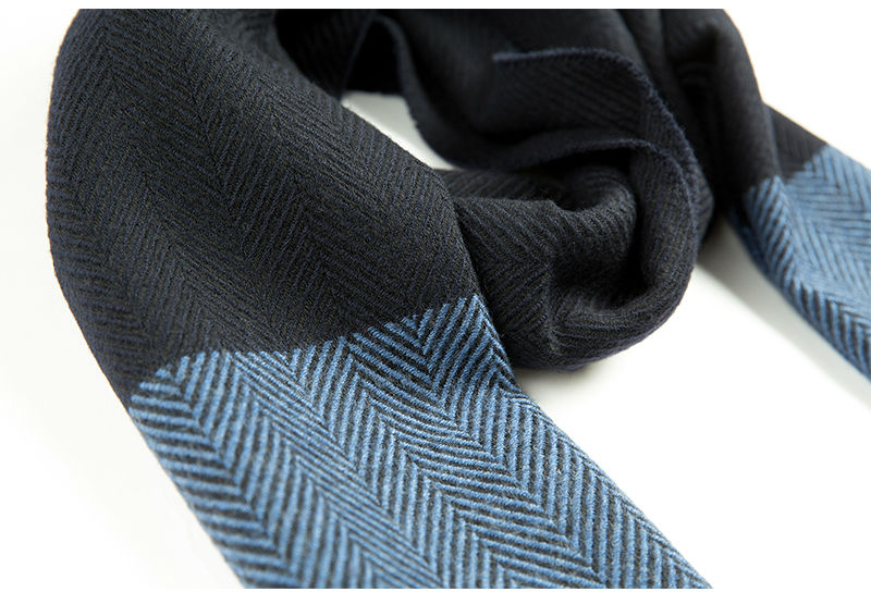 意大利MA.AL.BI.羊毛围巾男士围巾海蓝色