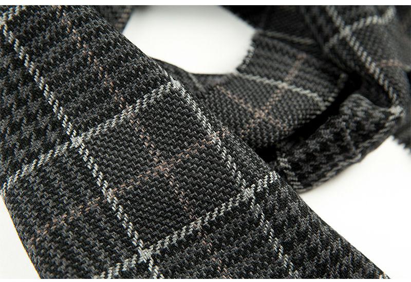 意大利MA.AL.BI.男士围巾羊毛围巾牛仔黑色