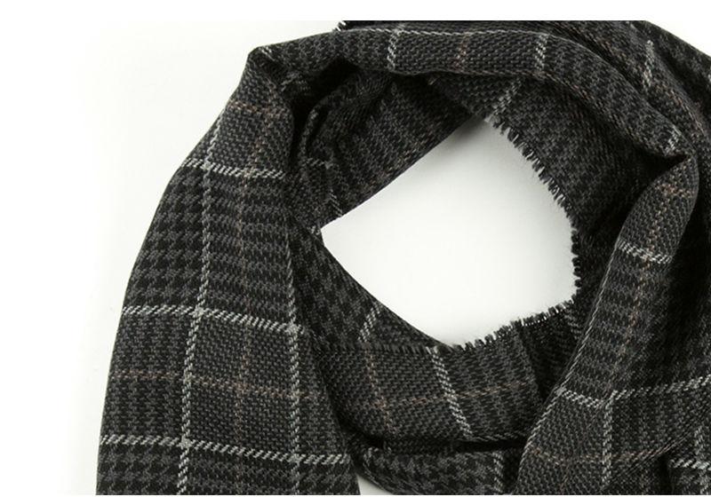 意大利MA.AL.BI.牛仔黑羊毛围巾