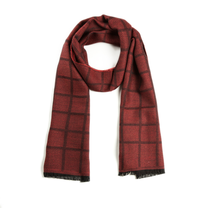 意大利原产MA.AL.BI.羊毛围巾女士围巾 葡萄红