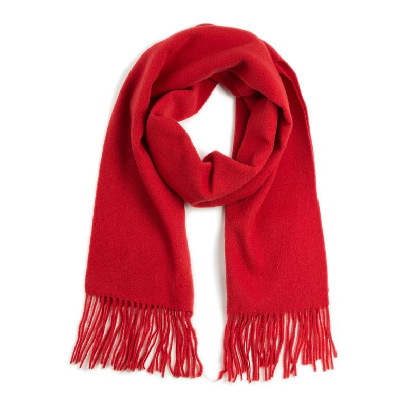 意大利原产MA.AL.BI.羊毛围巾女士围巾 红色