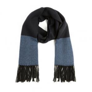 意大利原产MA.AL.BI.羊毛围巾男士围巾 海军蓝