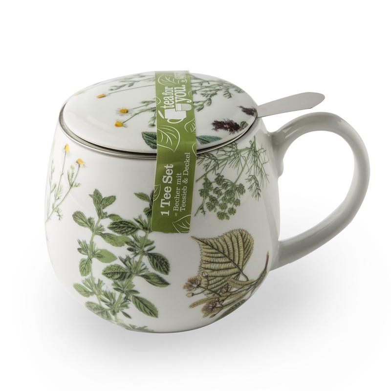 德国原产KOENITZ酷尼子 茶伴系列绿草瓷器水具陶瓷杯茶杯420ml