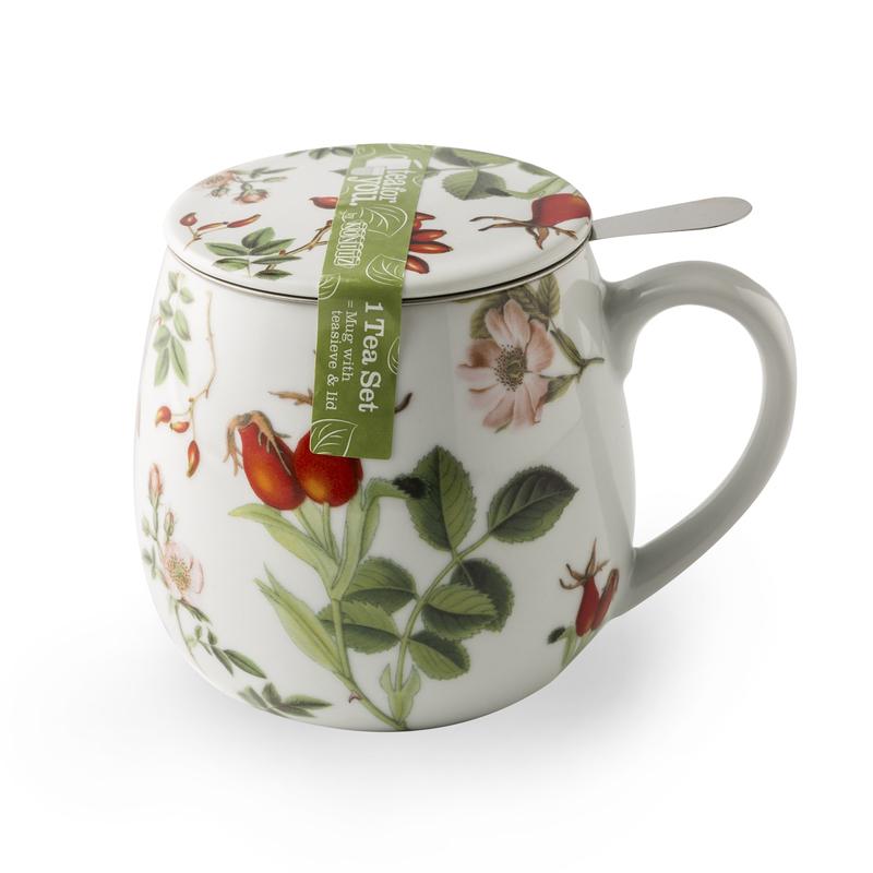 德国原产KOENITZ酷尼子 瓷器水具陶瓷杯茶杯茶伴系列玫瑰果