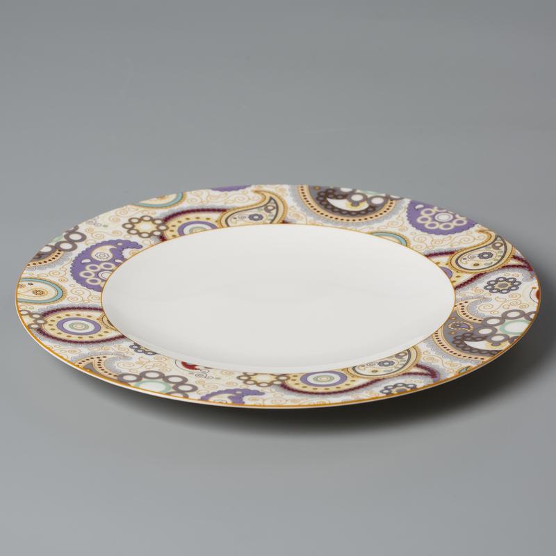 德国产Seltmann Weiden陶瓷餐盘西餐具 佩斯利图案系列22.5cm