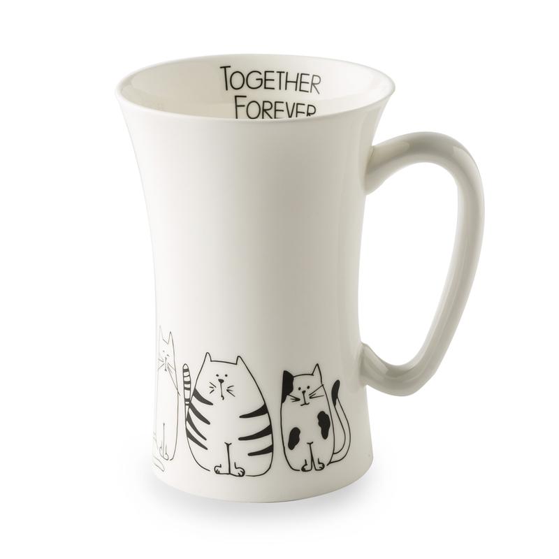 德国原产KOENITZ酷尼子 萌猫细腰瓷器水具骨瓷杯马克杯