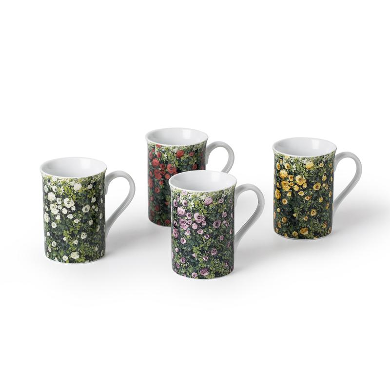 德国原产KOENITZ酷尼子 水杯陶瓷水具马克杯4件套玫瑰花园