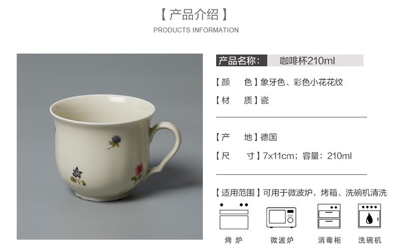 德国原产Seltmann Weiden陶瓷咖啡杯210ml