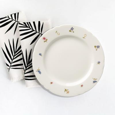 德国Seltmann Weiden面包盘陶瓷盘  彩色小花系列20cm白色