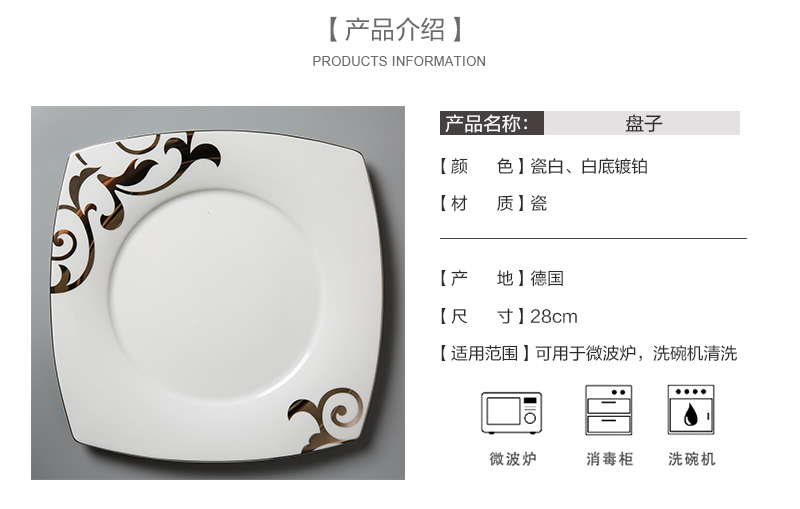 德国Seltmann Weiden铂金印花陶瓷餐盘产品介绍