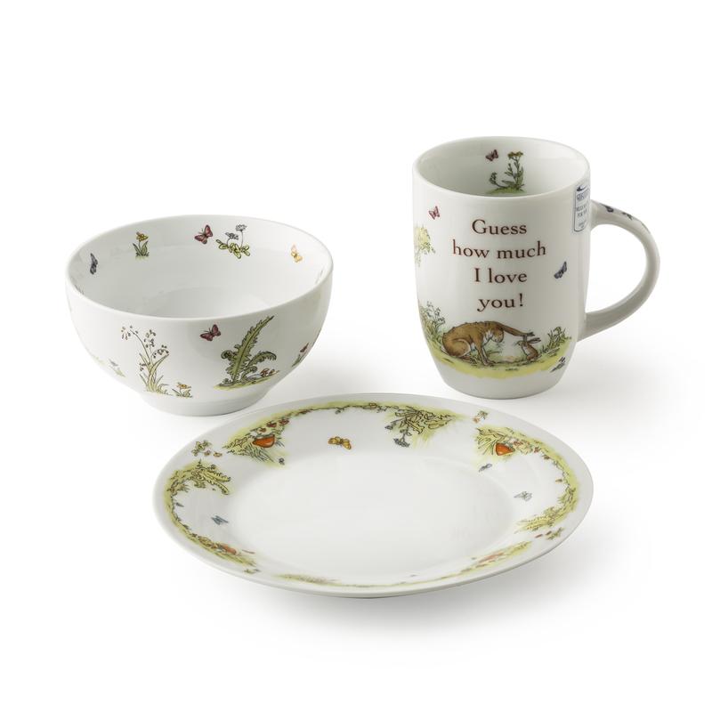 德国原产KOENITZ酷尼子 爱无止境陶瓷杯陶瓷碗马克杯三件套