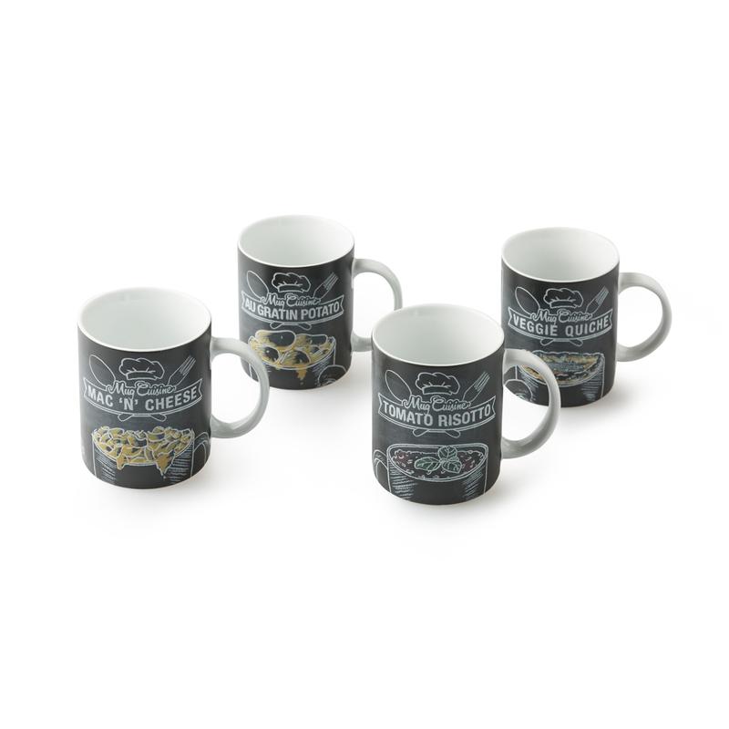 德国原产KOENITZ酷尼子 瓷器陶瓷黑料理马克杯4件套