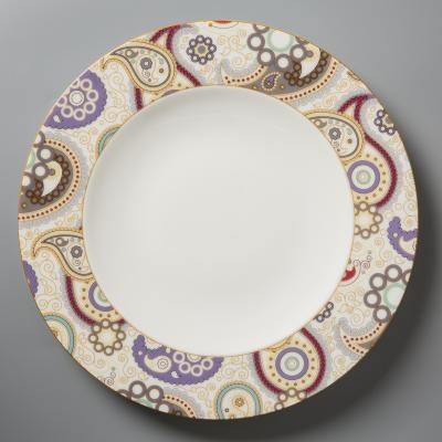 德国原产Seltmann Weiden陶瓷餐盘  西餐具佩斯利图案系列28cm