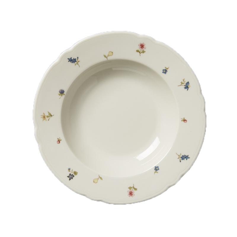 德国原产Seltmann Weiden陶瓷汤盘汤碗 23cm彩色小花系列