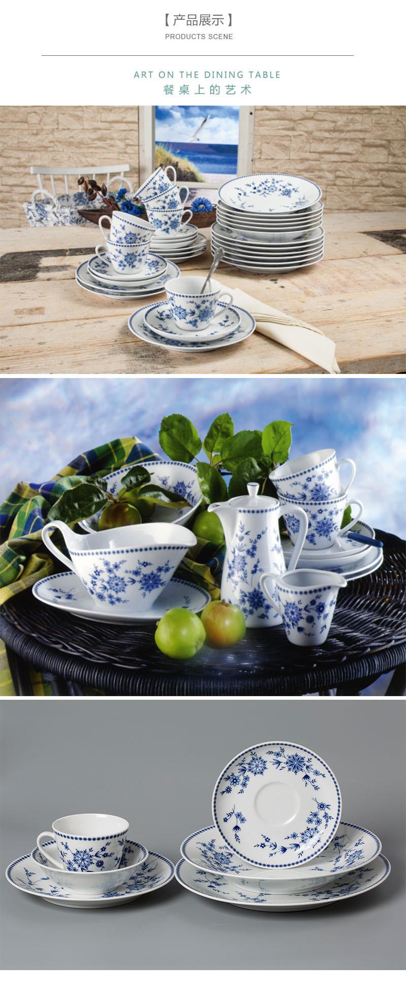德国Seltmann Weiden青花陶瓷碗西餐具产品展示