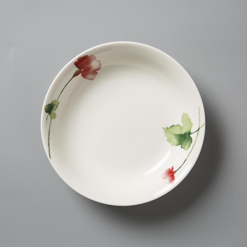 德国原产Seltmann Weiden餐盘 陶瓷碗西餐具绿叶红花系列19cm
