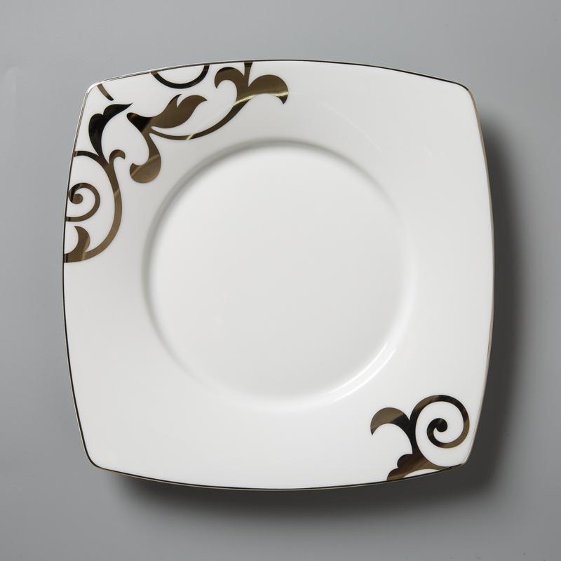 德国原产Seltmann Weiden瓷餐盘 铂金印花西餐具19.5cm