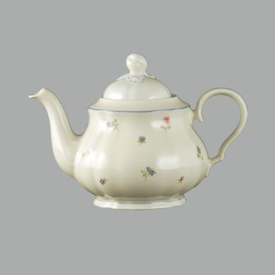德国原产Seltmann Weiden陶瓷茶壶  水壶彩色小花系列1100ml