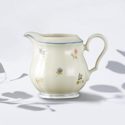 德国原产Seltmann Weiden奶罐奶壶  彩色小花系列180ml白色