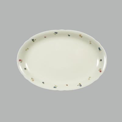 德国原产Seltmann Weiden瓷餐盘椭圆  彩色小花系列35cm