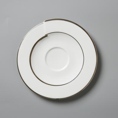 德国原产Seltmann Weiden瓷咖啡杯碟  铂金立体镶边17cm