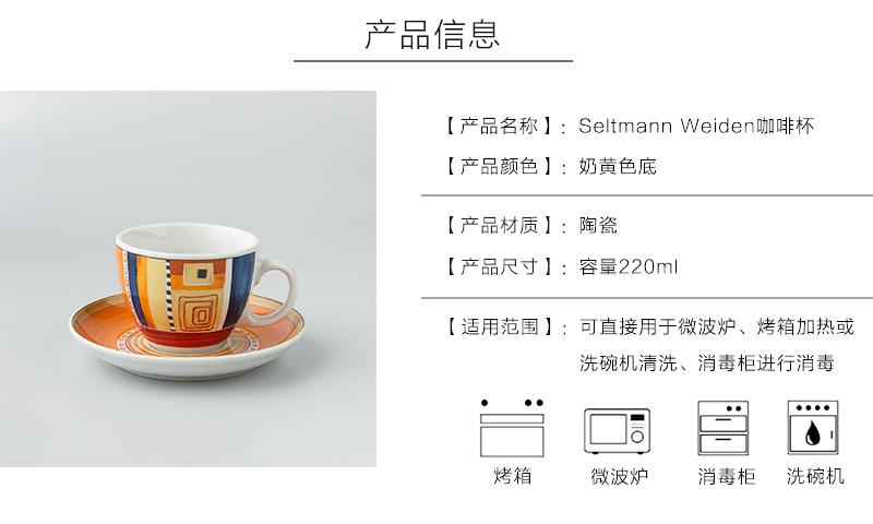 Seltmann Weiden陶瓷欧洲几何图形咖啡杯产品信息