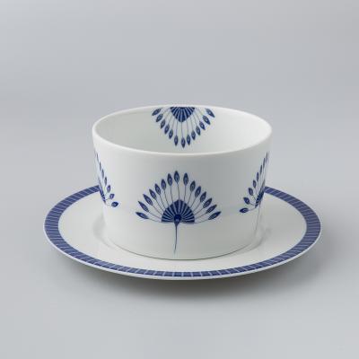 德国原产Seltmann Weiden陶瓷汤盅  蓝色律动系列60ml