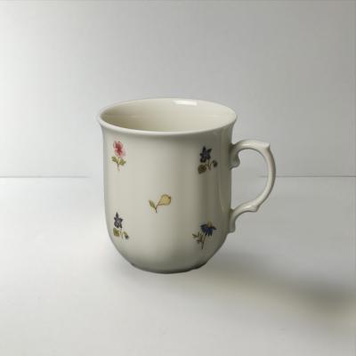 德国原产Seltmann Weiden陶瓷茶杯  水杯咖啡杯彩色小花270ml白色