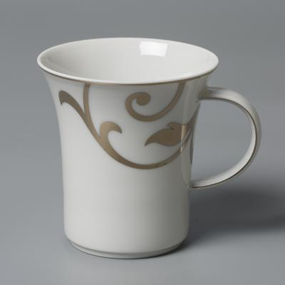 德国原产Seltmann Weiden咖啡杯  铂金印花陶瓷水杯茶杯300ml